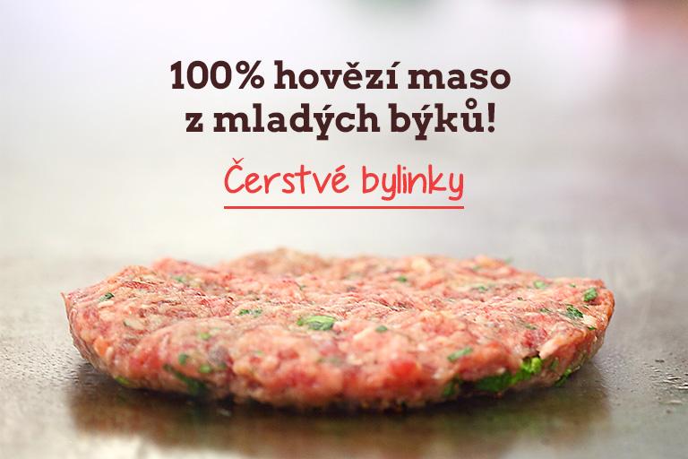 100% hovězí maso z mladých býků!